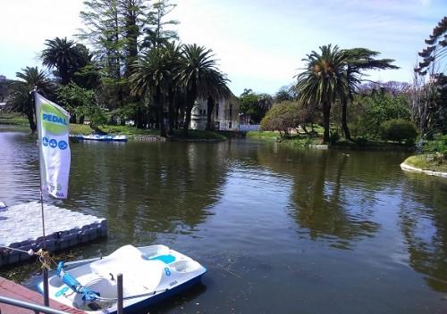 Parque Rodó: Nuevo lago y lanchitas