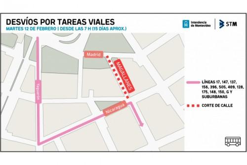 Empezó la reparación de la calle Magallanes