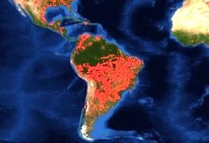 Humo de los incendios en el Amazonas llegan a Uruguay