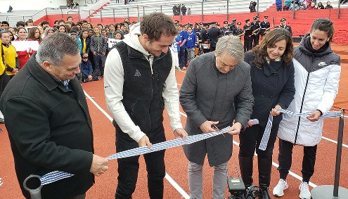 Fue inaugurada la nueva Pista Sintética de Atletismo en el departamento de Durazno