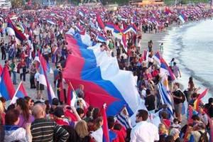 El Frente Amplio realizó hoy domingo 20 una caravana gigante