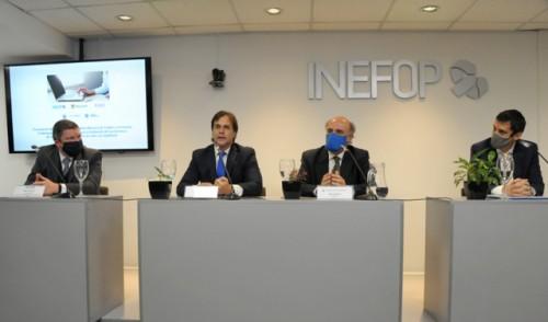Lacalle Pou participó de acuerdo entre Inefop y empresa Microsoft