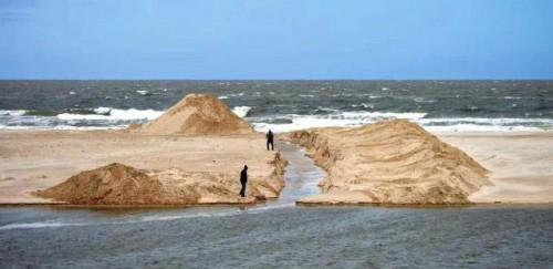 Comenzaron las obras en la desembocadura del Solís Chico, en Parque del Plata
