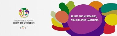 La Asamblea General de la ONU designó 2021 como el Año Internacional de las Frutas y Hortalizas (IYFV)