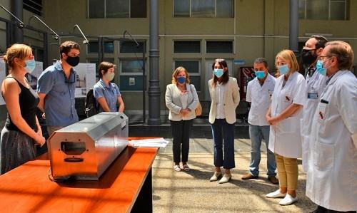 Hospital Español recibió equipo para desinfección de mascarillas