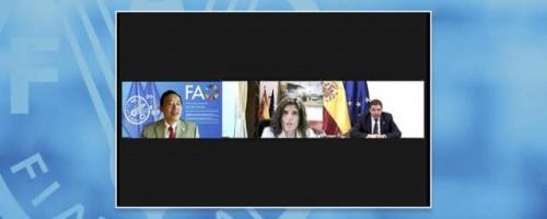 La FAO y España se comprometen a seguir colaborando estrechamente en la seguridad alimentaria y la nutrición mundiales