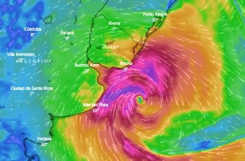 Ciclón extratropical azota la costa Uruguaya